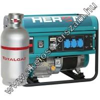 benzin-gáz motoros áramfejlesztő, max 6800/5500 VA, egyfázisú (EGM-68/55 AVR-1EG), önindítós