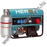 benzin-gáz motoros áramfejlesztő, max 6800/5500 VA, háromfázisú (EGM-68 AVR-3EG), önindítós